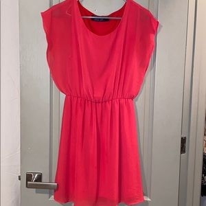 Bright coral / red dress